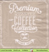 Premium Quality Coffee - 1 Lunch Serviette
